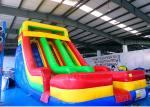 0.55mm PVC Tarpauline Large Inflatable Slide For Backyard Kids' Party