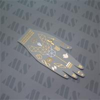 China 2015 Hot Gold Jewelry Metallic Temporary Flash Hand Tribe Tattoos on sale