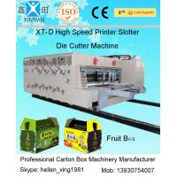 Automated Carton Box Printing Slotting Die Cutting Machine , Lead Edge Feeding