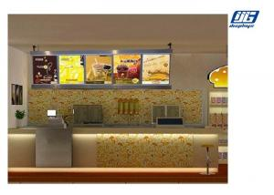 China Single Sided Crystal LED Light Box, Menu Board Crystal Led Frame For Store on sale