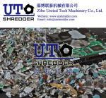 E scrap hard drives shredder 2 shaft intelligent low noise shredder/crusher/E-waste cutting machine/hard disk shredder