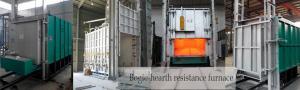 China High Temperature Bogie Hearth Furnace , 300KW Heat Treatment Furnace on sale