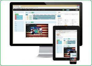 China Asynchronous Cloud Based Multimedia Publishing Platform Adjustable Brightness on sale