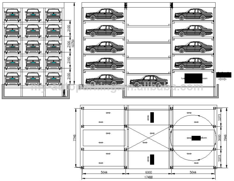 PLC Computer Control Garage Car Parking System Underground Parking Garage  Design Project for sale   Conveyor Robtic Parking System manufacturer from  china. PLC Computer Control Garage Car Parking System Underground Parking
