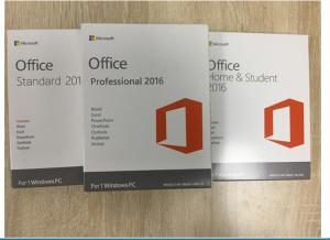 China Multi Language Software Key Code / Office 2016 Professional Retail Version on sale