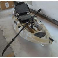 China HDPE Sand Camo Painting Adult Sit On Kayak , Ride On Top Kayak With Paddle Leash on sale