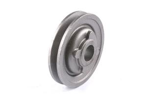 China Sandblasting Belt Pulley Grey Cast Iron Casting Flywheel Customized Color on sale