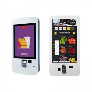 China Food Ordering Self Service Kiosk , Touch Screen Display Kiosk With Pos System / Bill Printer on sale