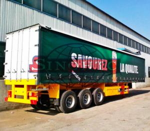 China 14m Tri Axle Heavy Duty Semi Trailers, Bulk Cargo Dry Van Semi Trailer on sale