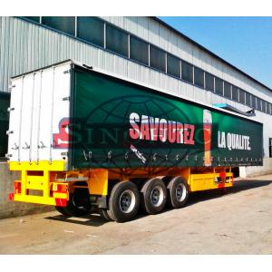 China 14m Tri Axle Heavy Duty Semi Trailers , Bulk Cargo Dry Van Semi Trailer on sale