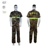 China Forest Fire fighting FR Camouflage Shirt Suits With Embroidered Logo on sale
