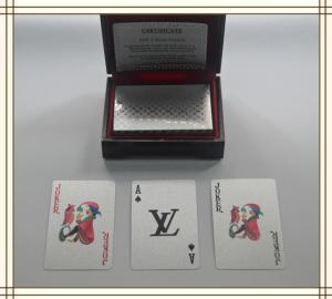 China Durable plastic LV Brand Custom Playing Cards with standard 52 cards on sale