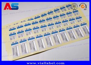 China ODM Steroid Bottle Labels Stickers For Injections Steroids Custom Silver Foil Printing on sale