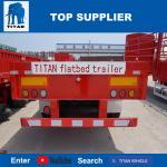 TITAN VEHICLE extendable container gooseneck flatbed semi trailers