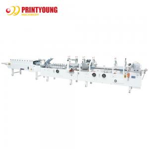 China ZH-800G Paper Feeding Cold Glue Olive Oil 4.5KW Box Folding Machine on sale