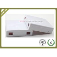 Optical Socket FTTH Distribution Terminal Box Wall Plate Outlets 2 Port