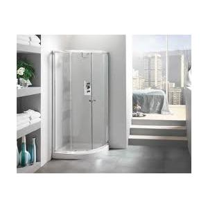 China Simple Tempered Glass Shower Enclosure with Acrylic Tray on sale