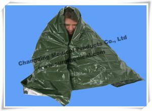 China First Aid Kits Rescue Emergency Survival Blanket Military Army Green For Soldier on sale