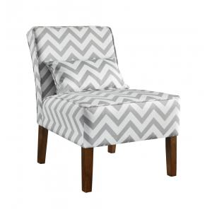 China Patterned Upholstered Accent Chairs Tight Back , Low Back Living Room Chairs on sale