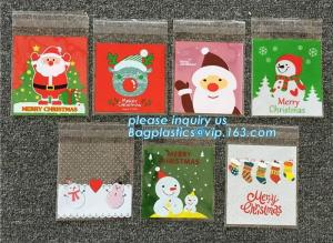 China Hot 100pcs/lot Cute Snowflake Snowman Santa Xmas Christmas Gifts Holders Bake Biscuit Cookies Candy Jewelry Packaging Ba on sale
