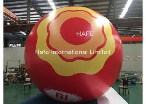 China Custom Led Inflatable Helium Balloon Lights , Moon Light Ball Print Logo on sale