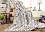100% Polyester Pv Plush Soft Faux Fur Blanket Cozy Warm 150*200CM / 200*240CM