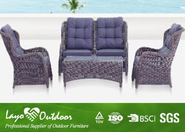 Heavy Duty Outdoors Patio Furniture Seating Sets Black Brown Color Images
