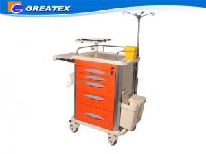 China Abs Hospital Cart Medical Trolley Luxurious Nursing Trolley Clinical Trolley on sale
