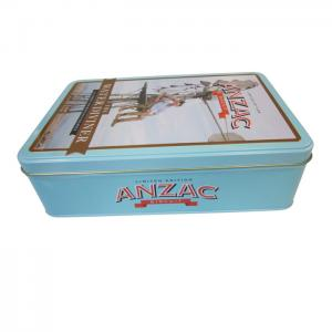 China Pre-Roll Metal Child Proof Rectangular Tin Box For Medical Packaging on sale