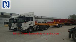 China Three Axles 40 ft 20 ft Container Chassis Skeleton Semi Trailer Truck on sale
