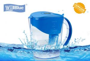China Eco Friendly 3.5L Wellblue Alkaline Water Filter Pitcher With Negative Ion Ceramic Balls on sale