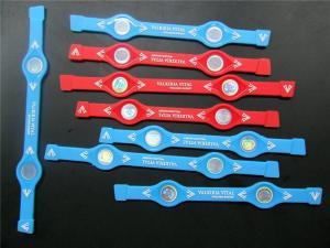 China Customized Girls Silicone Balance Bracelet , Eco-Friendly Silicone Bangle on sale