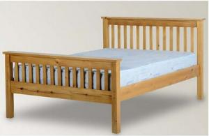 China Beautiful Pine Wood Frame Bed / Timber Frame Bed For Kids Standard Room on sale