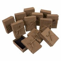 3.6 X 1 X 2.7 Inches Small Cardboard Gift Boxes Brown Color With Lids