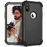 2018 New Air Cushion deisgn PC TPU Hybrid 3 in 1 Shockproof Armor phone case for iphone X