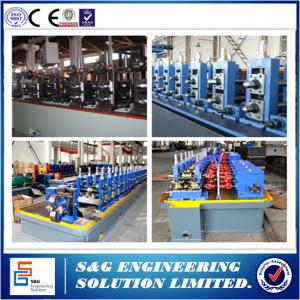 China 160KW Power Welded Pipe Production Line With Pipe Roll Forming Machine PLC Control on sale