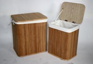 Awesome Set Of 2 Popular Style Bamboo Storage Bench Storage Ottoman Inzonedesignstudio Interior Chair Design Inzonedesignstudiocom