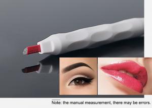 China #12CF Oval White Manual Tattoo Pen , Eyebrow Miroblading pen on sale