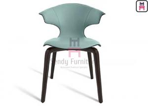 China Upholstered Fiberglass Dining Chair Leather Ash Wood Modern Creative Design on sale