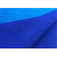 China Attractive Wool Velour Fabric Blue Sapphire Color For Women'S / Men'S Coat on sale