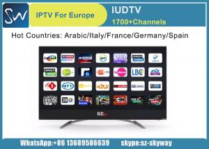 China IUDTV IPTV Subscription 1 Year Arabic French Germany Italy UK Sweden Albania USA Channels total 1700 HD Channels on sale