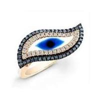 China Lovely Light Rose Turkish silver Evil Eye Murano Glass jewelry finger Ring for lady  on sale
