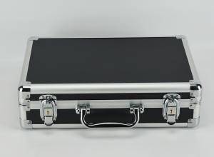 China Black Professional Aluminum Tool Case For Carrying Tool Separated Lining on sale