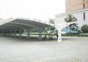 China High Safety Parking Shade Double Car Canopy Fabric Tension Structures on sale