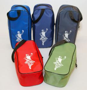 China 携帯用赤い/緑の体育館のダンスの靴の貯蔵は衣服のために袋に入れま、ロゴをpinting on sale