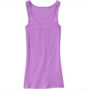 China 100% Bamboo T Shirt Slim Fit Ladies Long Tank Tops Sexy & Club Style on sale