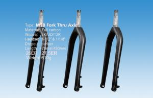 Quality 27.5 ( 650b ) Carbon Fiber Mountain Bike Fork , 570g Stiff HT-FK136 for sale