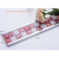 Instant Mosaic Tile Edge Trim With Aluminium Frame For Bathroom Border
