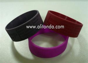 China China suppliers custom fashion silicone slap bracelet /slap wristband with printing logo on sale