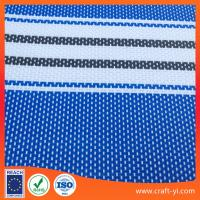blue with white color stripe 2X1 textilene mesh fabric for outdoor chair sunscreen